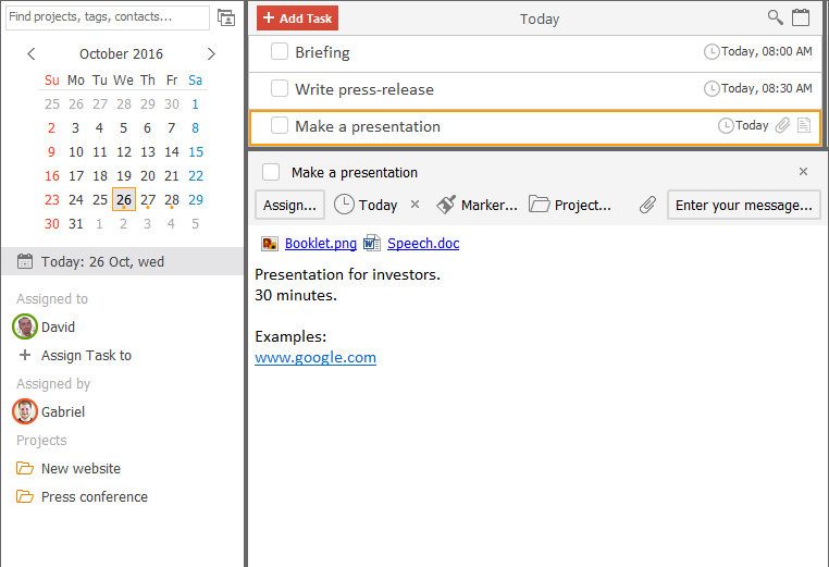 LeaderTask Daily Planner, To-Do List Software Screenshot