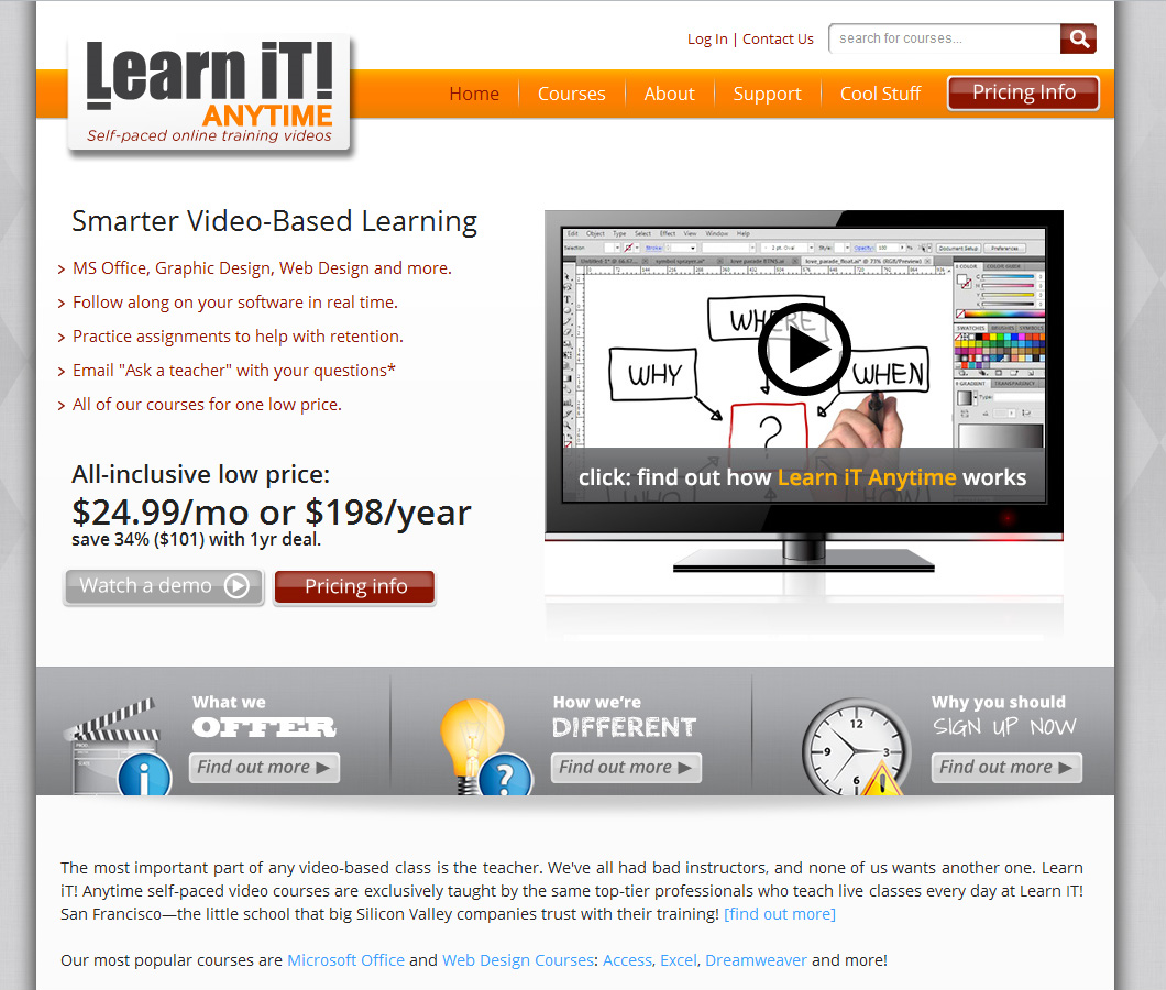 Learn iT! Anytime Screenshot