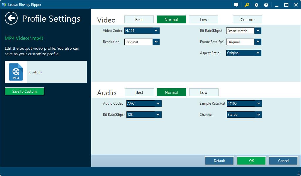 Leawo Blu-ray Ripper, Video Software Screenshot