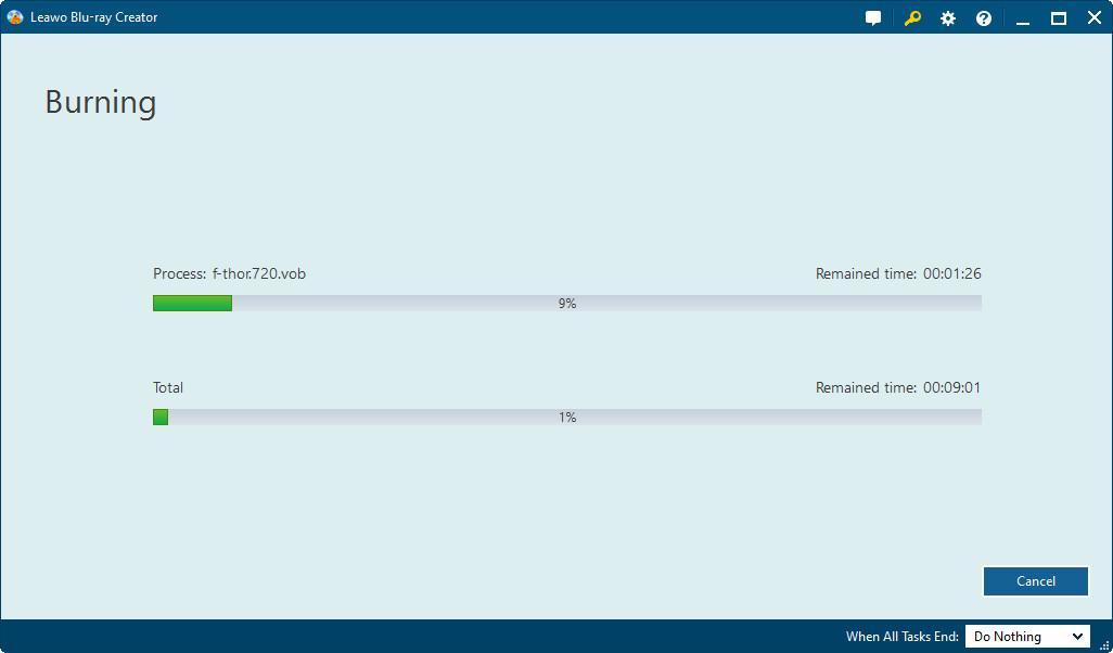Leawo DVD Creator, Video Converter Software Screenshot