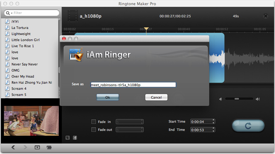 Leawo iAm Ringer for Mac, Music Software Screenshot