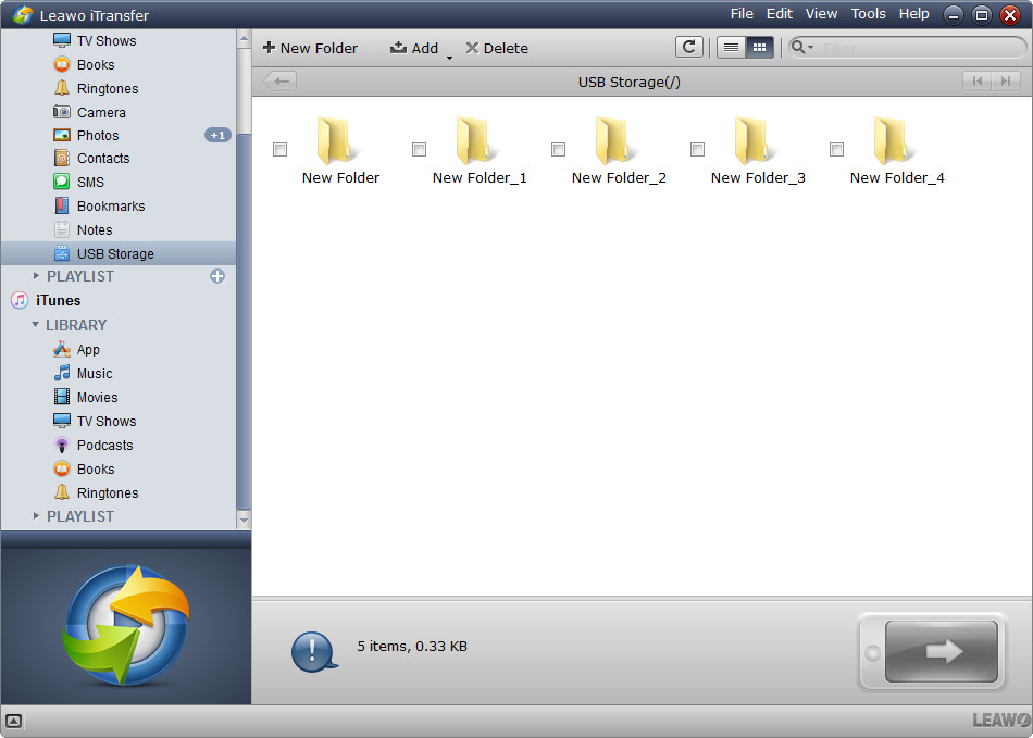 Video Software, Leawo iTransfer Screenshot