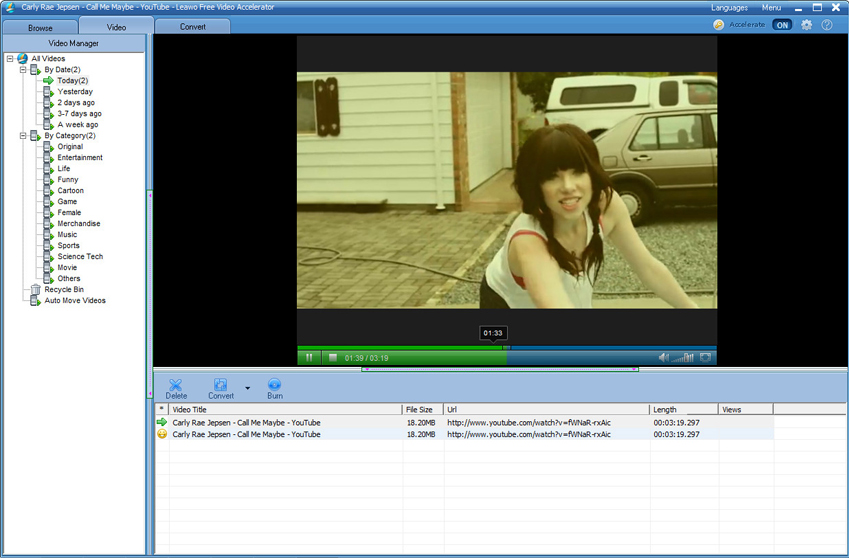 Video Editing Software, Leawo Video Accelerator Pro Screenshot
