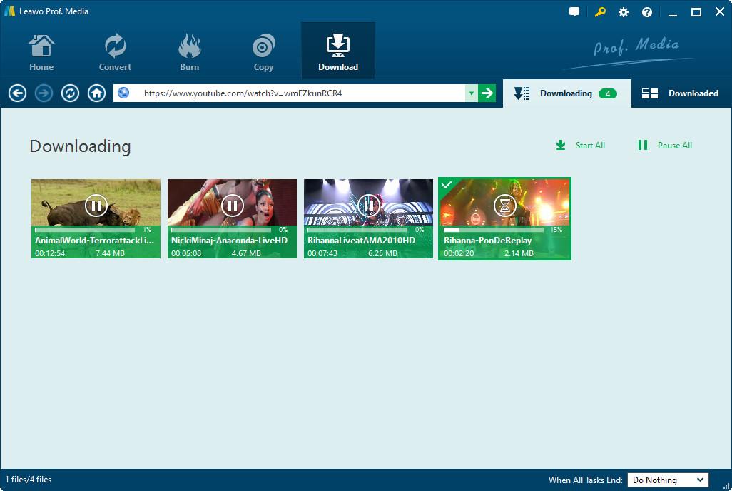 Leawo Video Downloader, Video Capture Software Screenshot