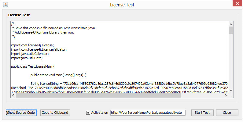 Development Software, License4J License Manager Screenshot