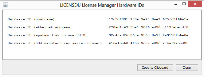 License4J License Manager, Development Software, Software License Software Screenshot