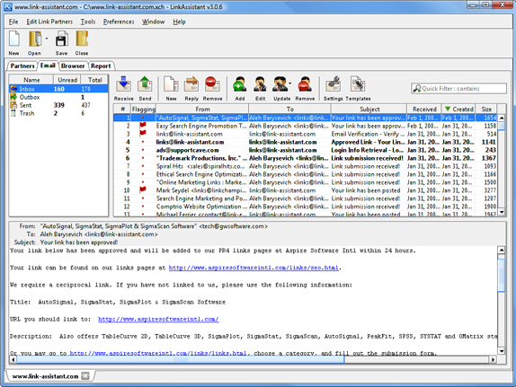 Development Software, LinkAssistant Screenshot