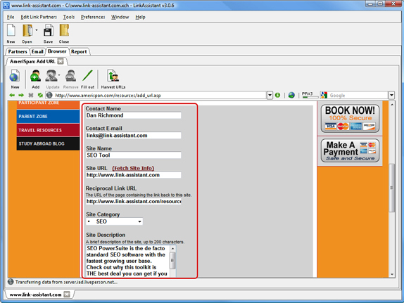 LinkAssistant, Development Software Screenshot