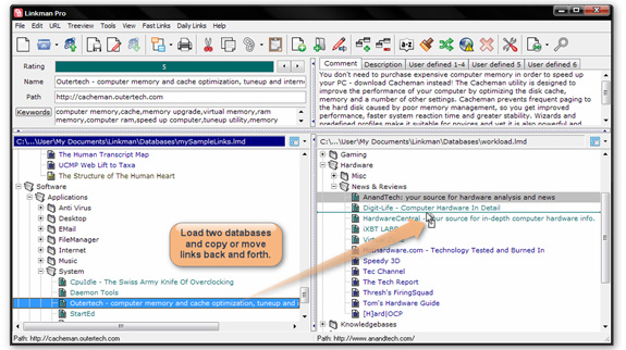 Bookmark Manager Software Screenshot