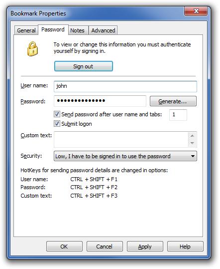 Internet Software, Bookmark Manager Software Screenshot
