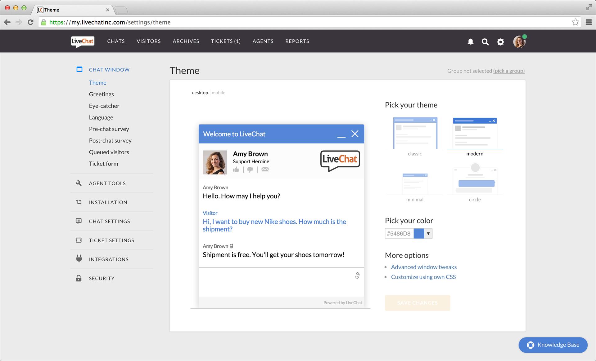 LiveChat, Business & Finance Software Screenshot