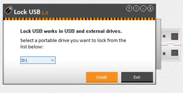 Hard Drive / USB Security Software, Lock USB Screenshot