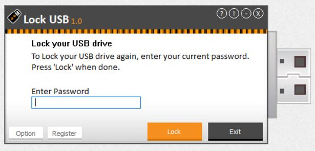 Lock USB, Hard Drive / USB Security Software Screenshot