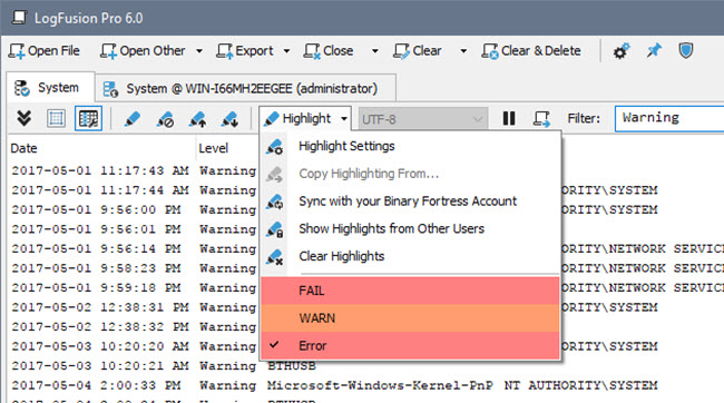 Other Utilities Software, LogFusion Screenshot