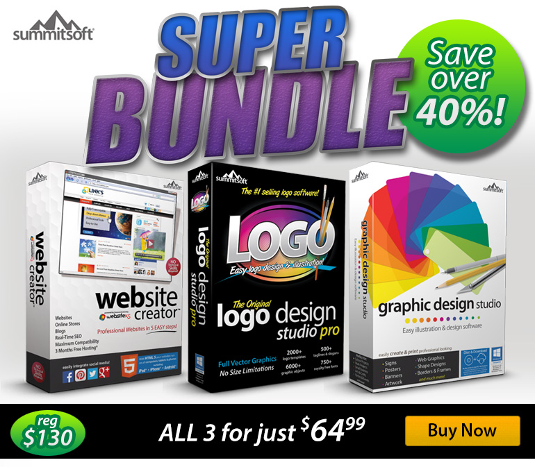 Logo & Graphic Design Bundle with Website Creator Screenshot