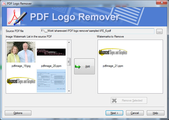 Logo Removal Suite, Watermark Software Screenshot