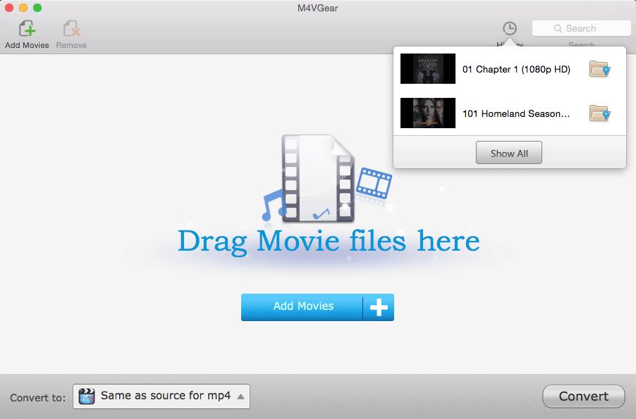 Video Software, M4VGear DRM Media Converter Screenshot