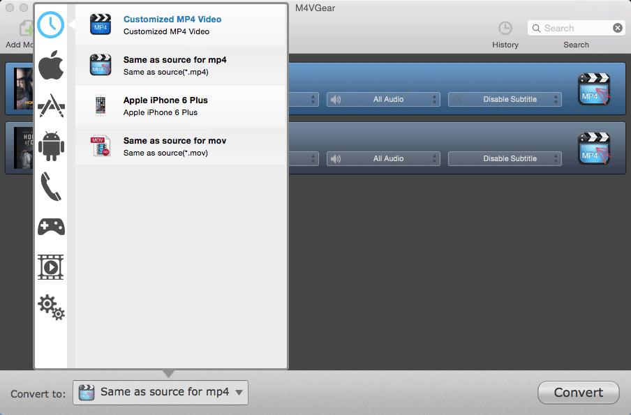 M4VGear DRM Media Converter, Video Converter Software Screenshot