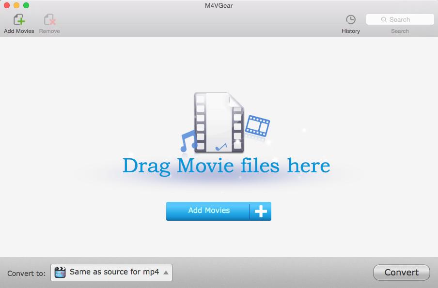 Video Converter Software, M4VGear DRM Media Converter Screenshot