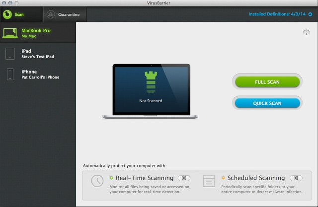 Mac Internet Security X9 Screenshot
