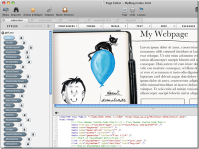 Mac WebsiteCreator, Development Software Screenshot