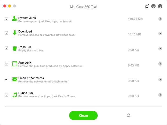 MacClean360 Screenshot