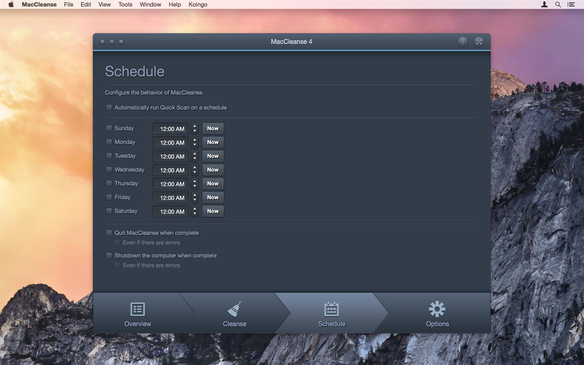 Software Utilities, MacCleanse Screenshot