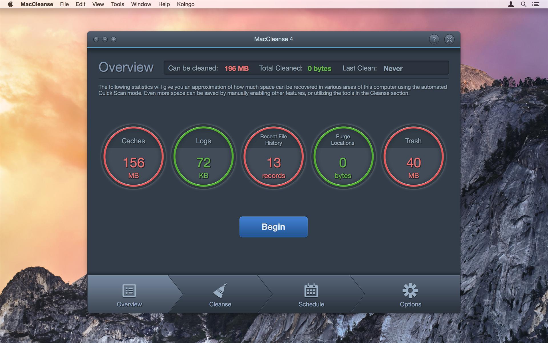 MacCleanse, Software Utilities Screenshot
