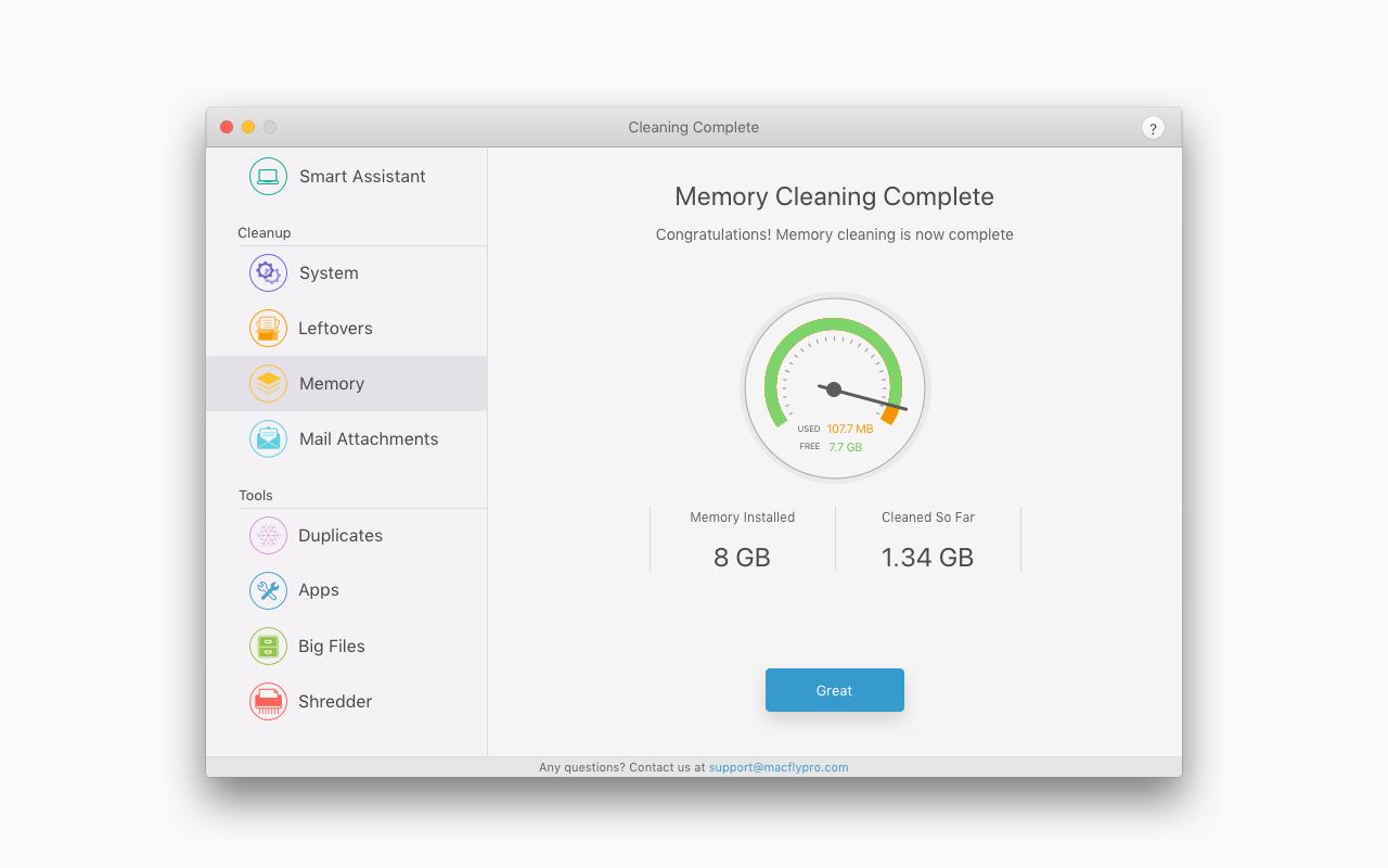 MacFly Pro, PC Optimization Software Screenshot