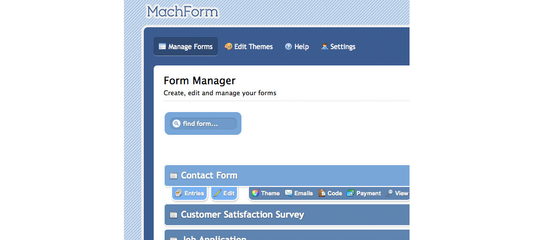 HTML Form Software Screenshot