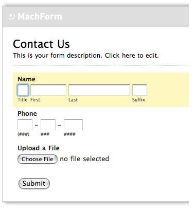 HTML Form Software, MachForm 2 Screenshot
