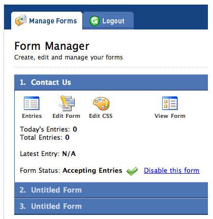 MachForm 2, Development Software Screenshot