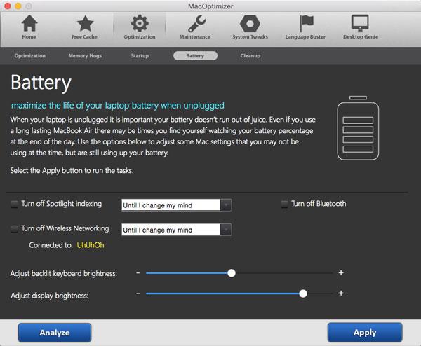 MacOptimizer 3, Other Utilities Software Screenshot