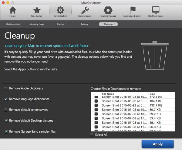 MacOptimizer 3, Software Utilities Screenshot