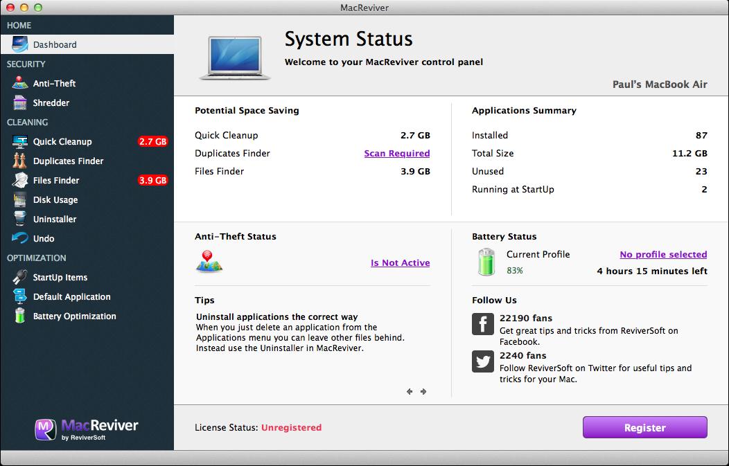 MacReviver Screenshot