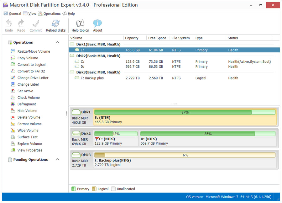 Macrorit Disk Partition Expert Pro Edition Screenshot