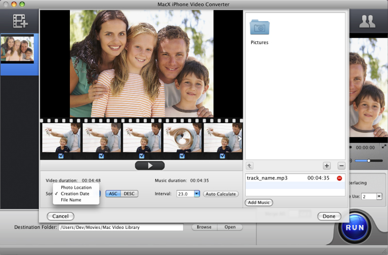 MacX iPhone Video Converter, Video Software, Video Converter Software Screenshot