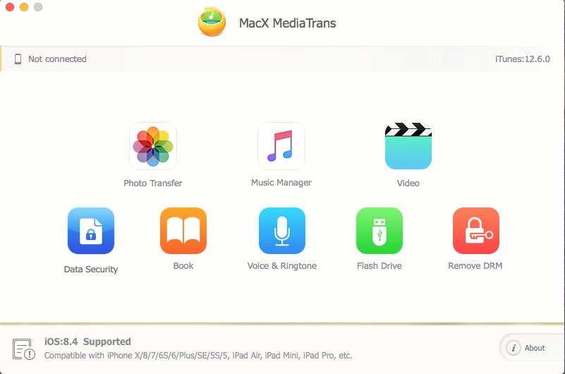 MacX MediaTrans Screenshot