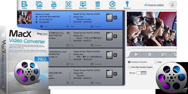 Video Converter Software, MacX Video Converter Pro Screenshot