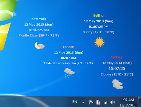 magayo World Time Weather Screenshot