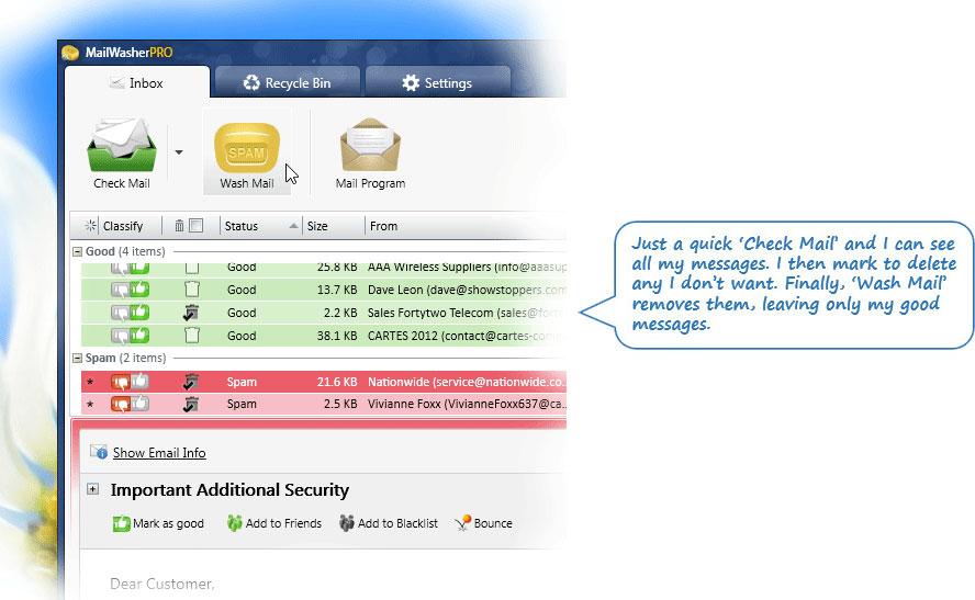 MailWasher Pro Screenshot