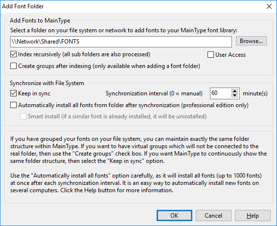 Fonts and Font Tools Software, MainType Standard Edition Screenshot