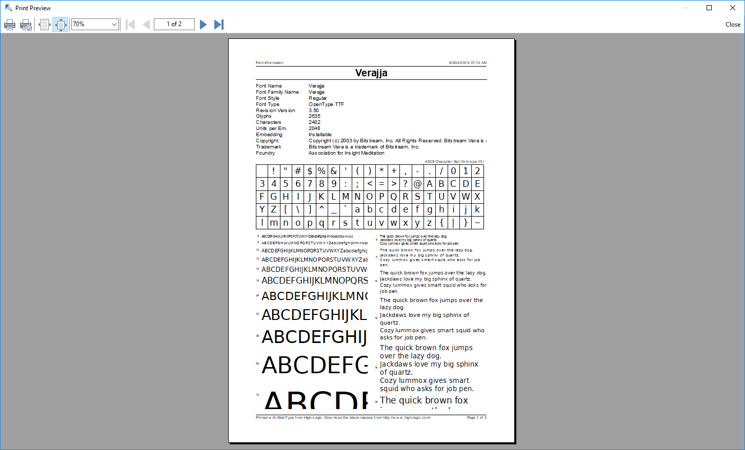 MainType Standard Edition, Fonts and Font Tools Software Screenshot