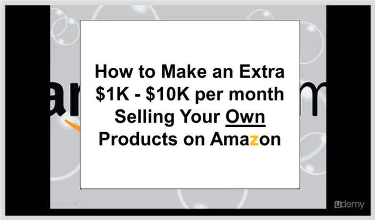 Make an Extra $1K - $10K a Month Selling On Amazon Screenshot