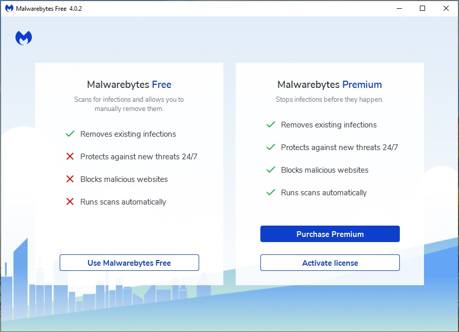 Malwarebytes 4 Premium, Antivirus Software Screenshot