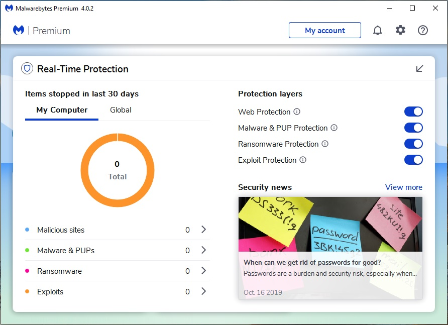 Security Software, Antivirus Software Screenshot