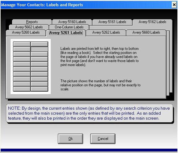Contact Management Software Screenshot