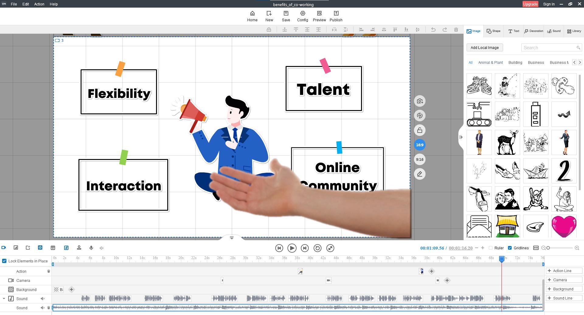Animation Software, Mango Animate Whiteboard Animation Maker Lifetime Screenshot