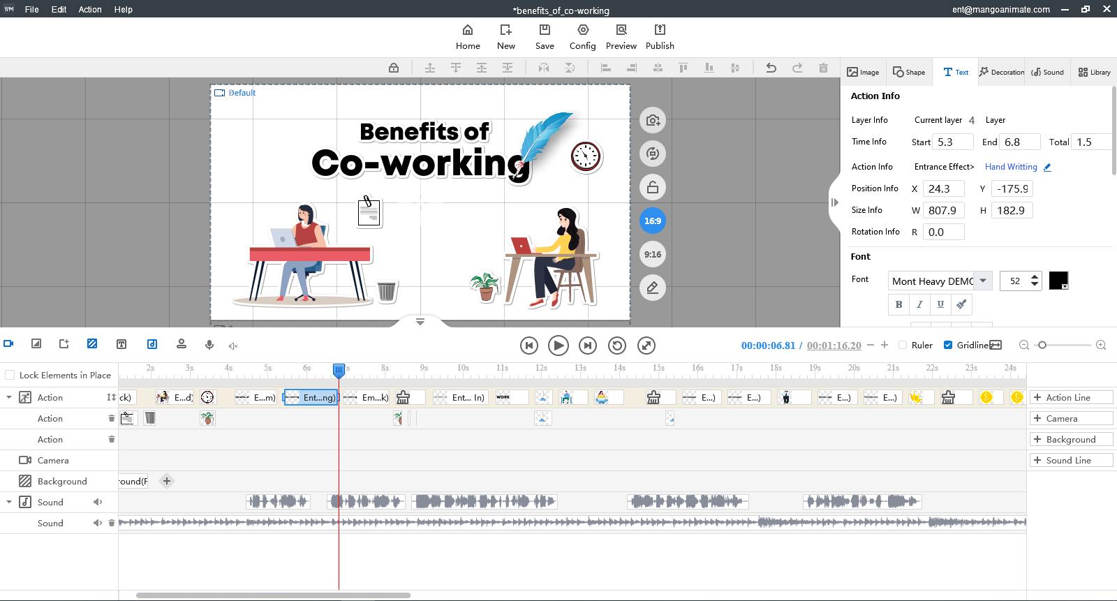 Mango Animate Whiteboard Animation Maker Lifetime, Animation Software Screenshot