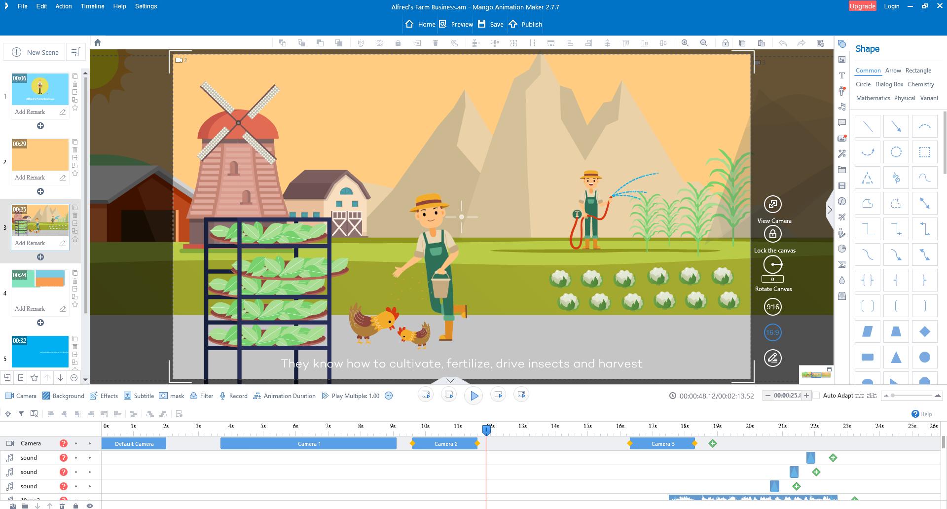 Mango Animate Animation Maker Lifetime, Video Editing Software Screenshot